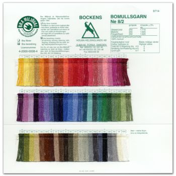Color card - Cotton Bomullsgarn 8/2 - Bockens