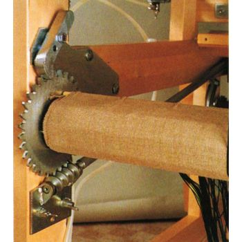 Cog wheel warp release system for Toika looms