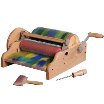 Wide drum carder
