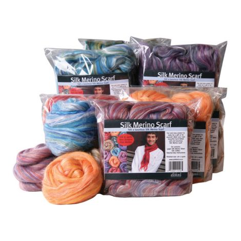 Silk Merino scarf kit - Ashford
