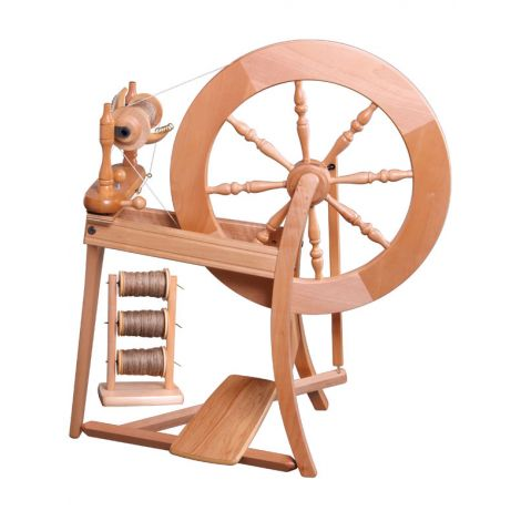 Traditional simple drive spinning wheel